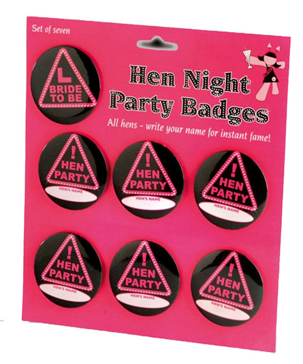 Personlised Set of 7 Badges