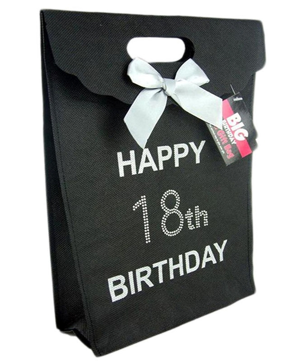 Black 18th Diamante Gift Bag