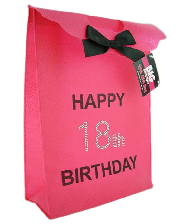 Pink Diamante 18th Gift Bag