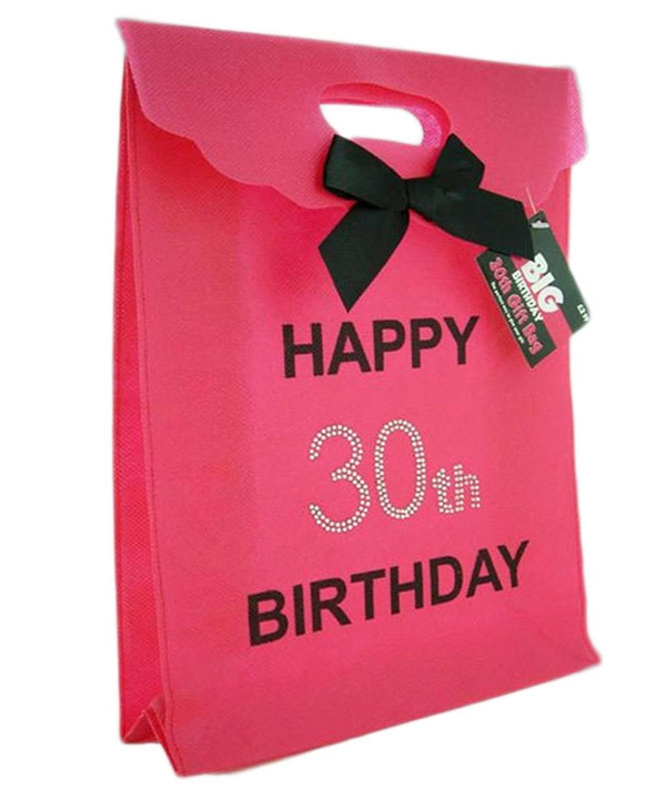 Pink 30th Diamante Gift Bag
