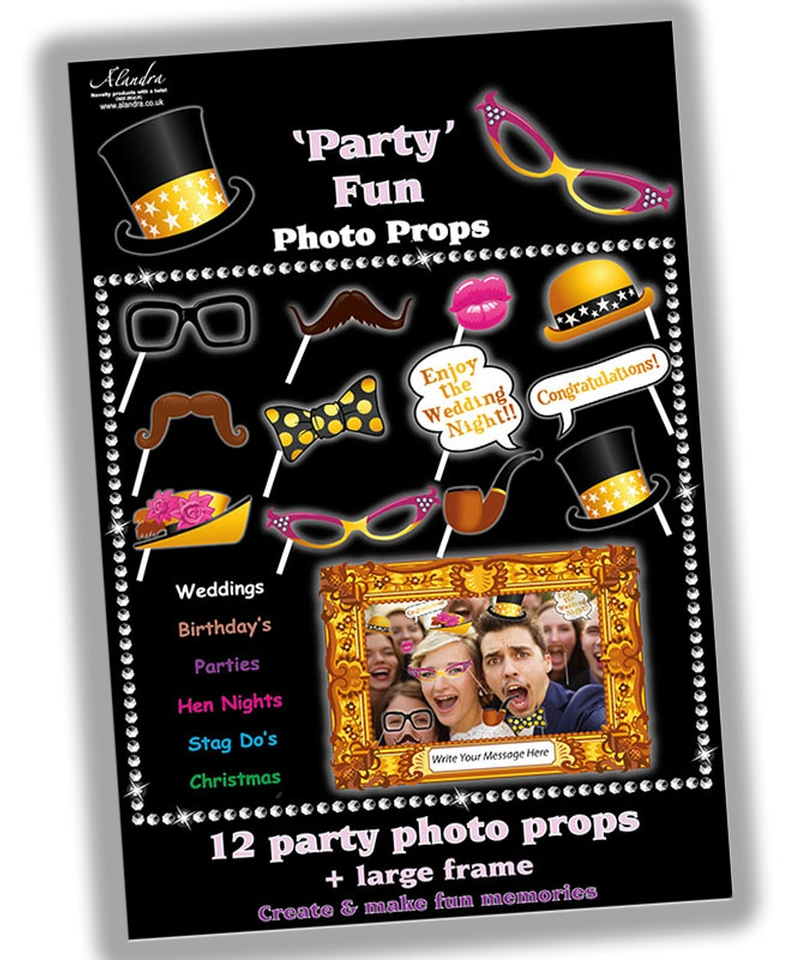 12 Party Photo Props Frame