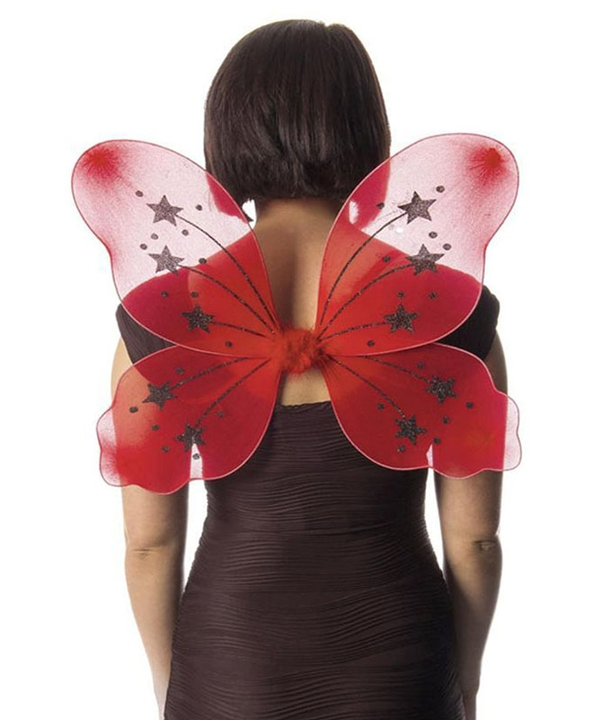 Large Red Fairy Wings