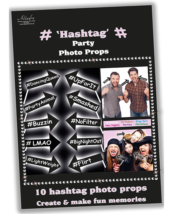 Hashtag Party Photo Props