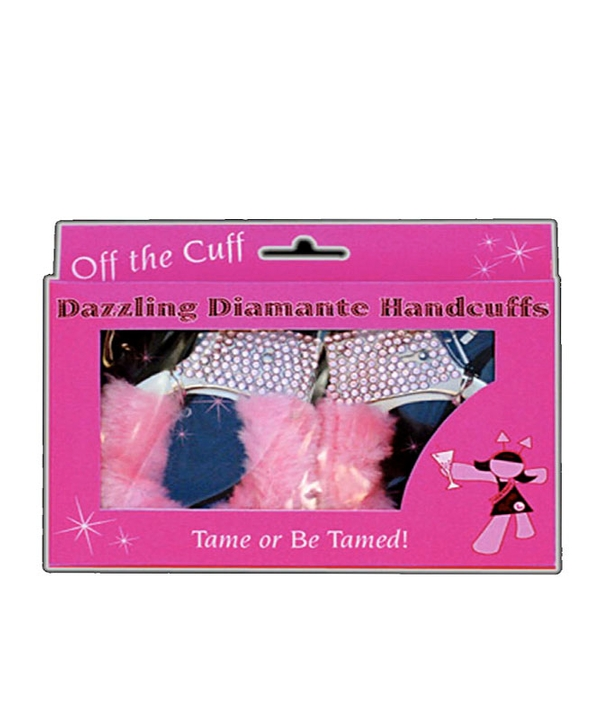 Pink Hand Cuffs with Diamante
