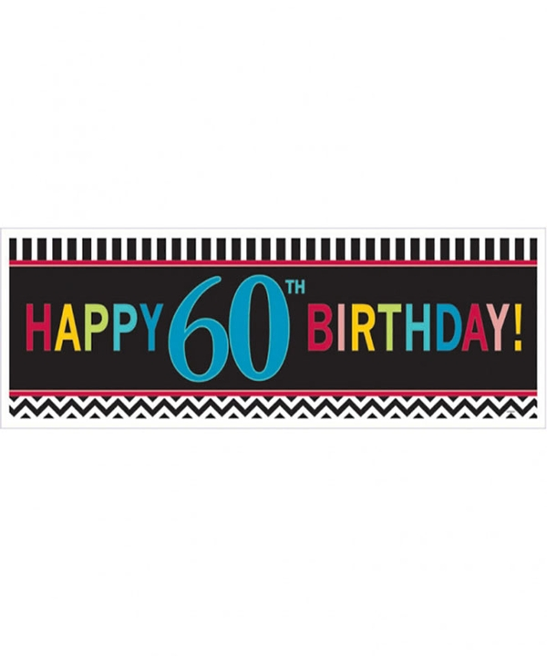 Chevron 60th Birthday Giant Banner