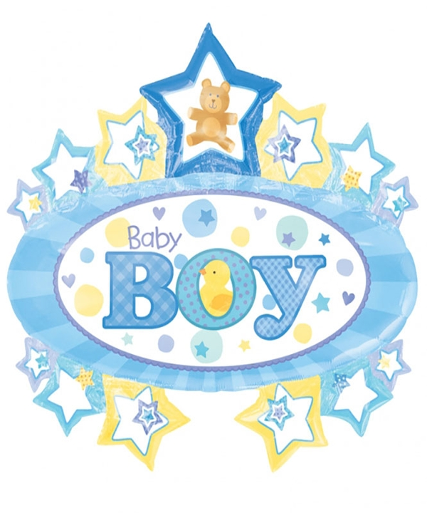 Super Shape Baby Boy Foil Balloon