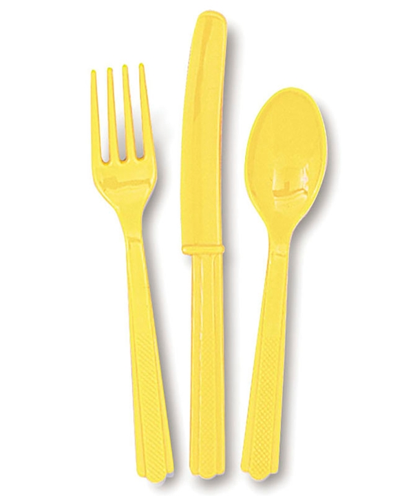 Soft Yellow Assorted Cutlery
