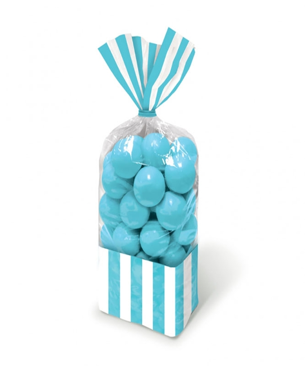 Baby Blue Stripe Party Bags