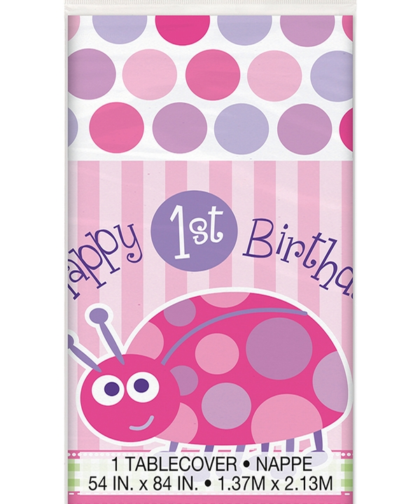 First Birthday Ladybug Tablecover