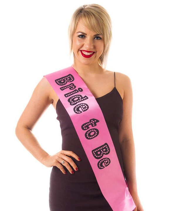 Sash Bride to Be Miss Behave Pink