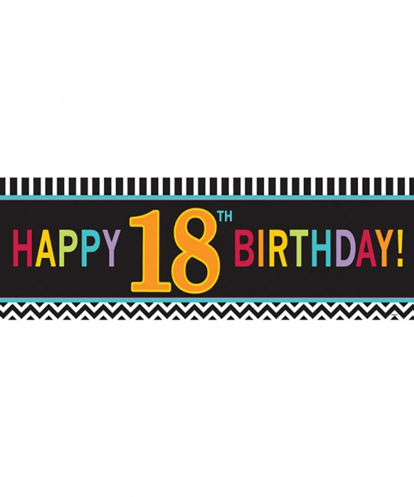 Chevron 18th Birthday Giant Banner