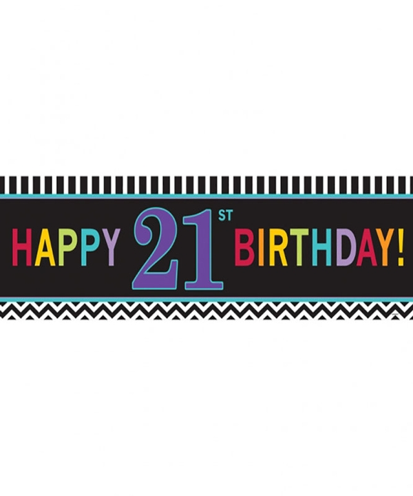 Chevron 21st Birthday Giant Banner
