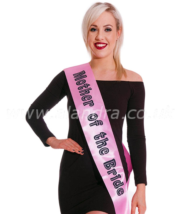 Mother of the Bride Sash Miss Behave Pink