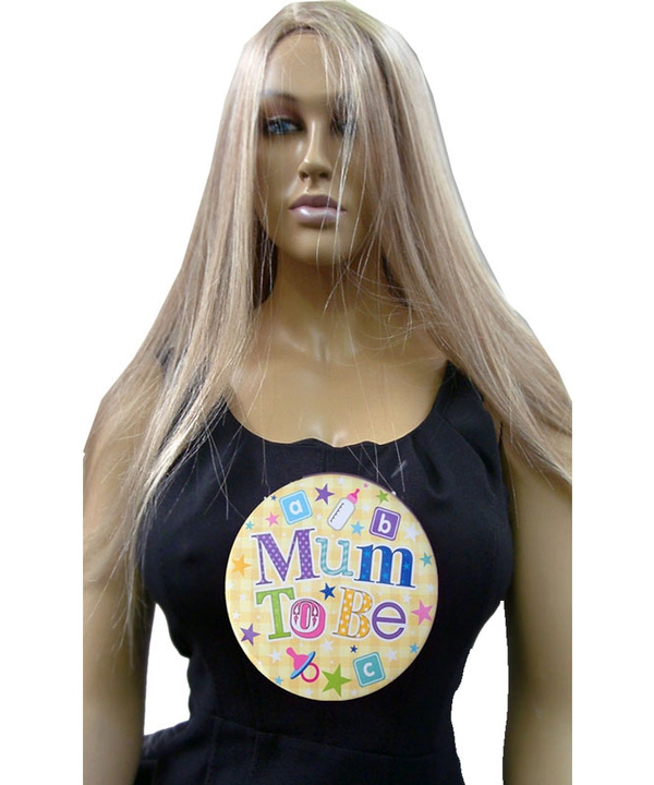 Yellow Jumbo Mum To Be Badge