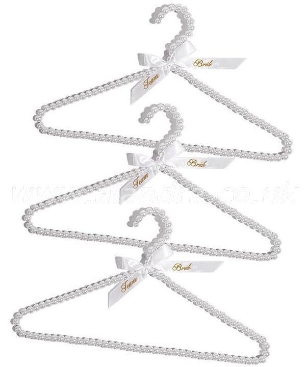 Set of 3 Team Bride Beaded Hangers