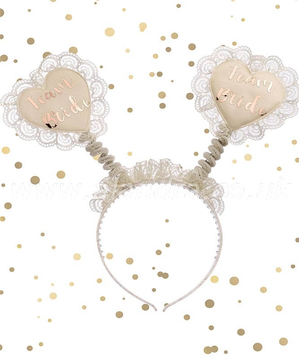 Team Bride Lace & Rose Gold Bopper
