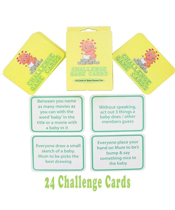 Baby Shower Callenge Game Cards