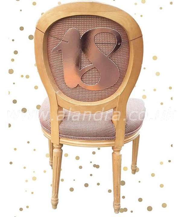18th Chair Back Rose Gold