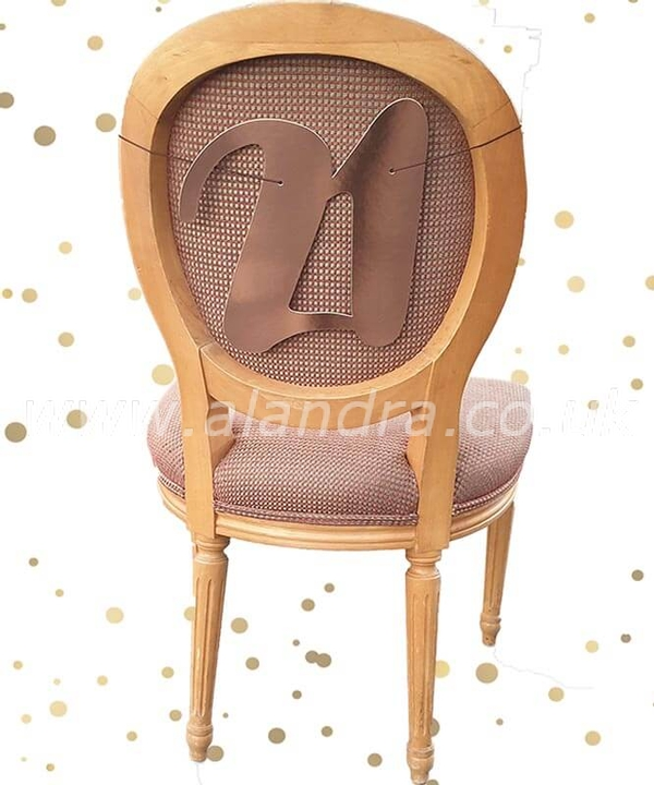 21st Chair Back Rose Gold