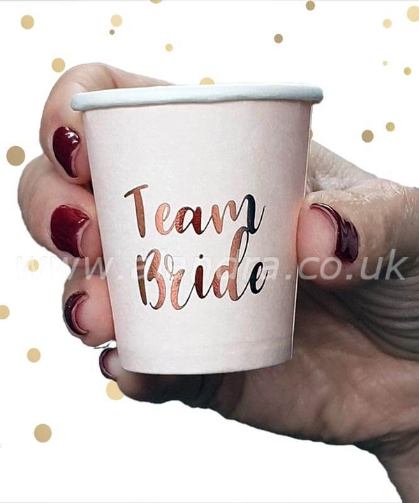 10 Pack Rose Gold Team Bride Drinking Shot Cups