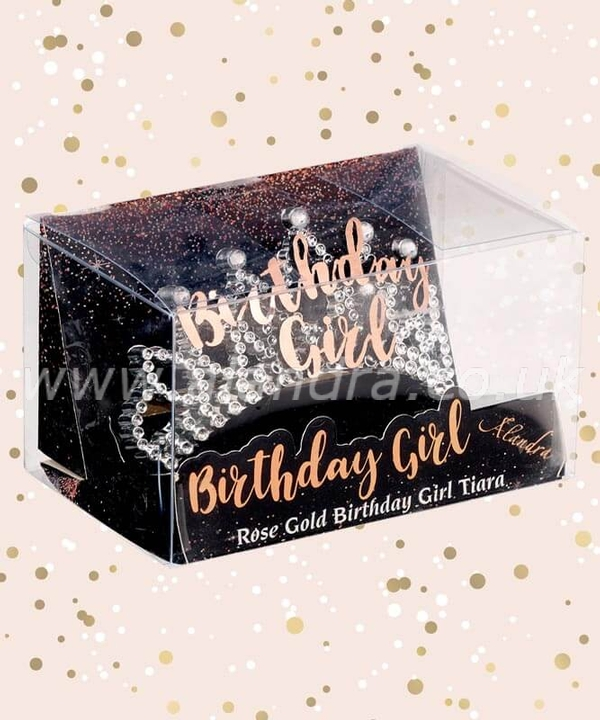 Birthday Girl Gold Boxed Birthday Tiara