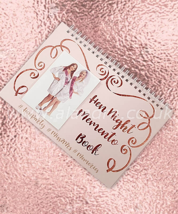Rose Gold Hen Do Memento Book